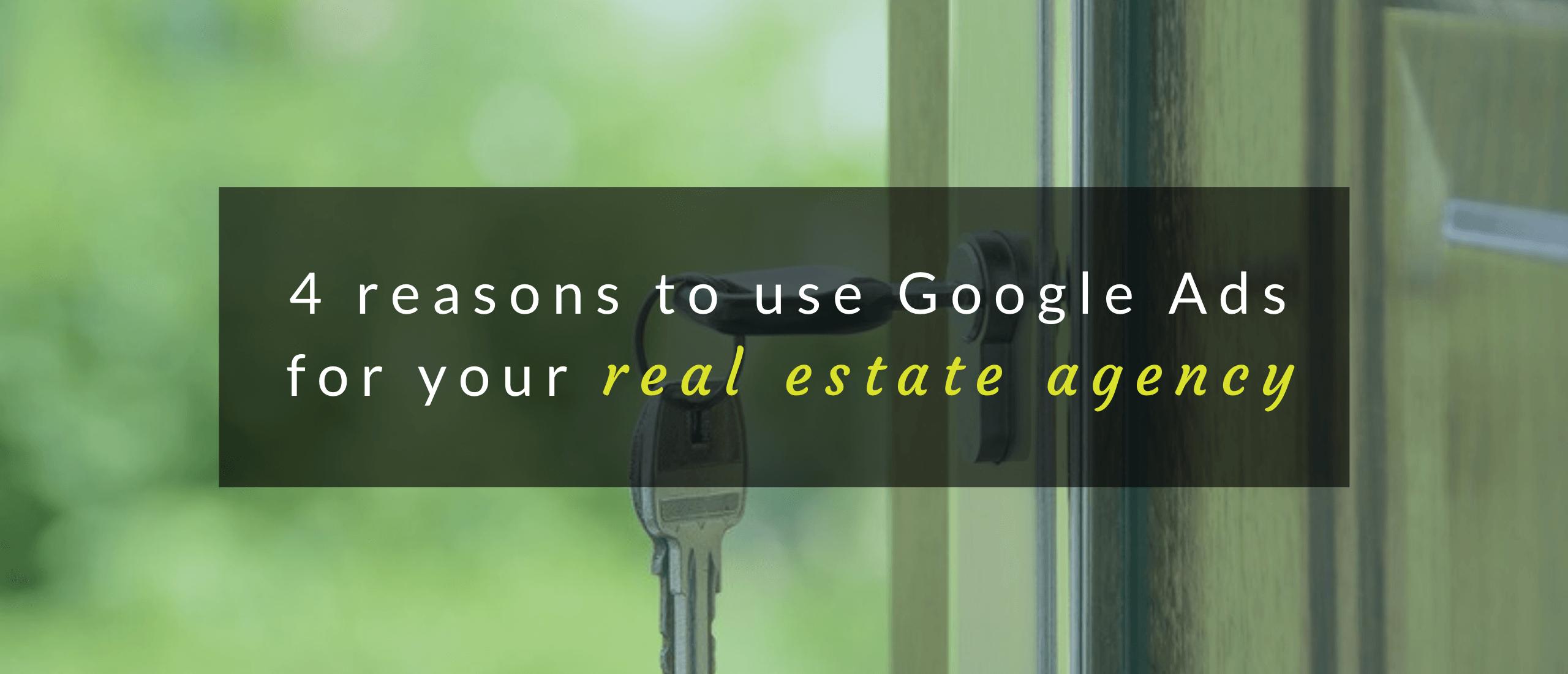 Header image of real estate agency Google Ads article.