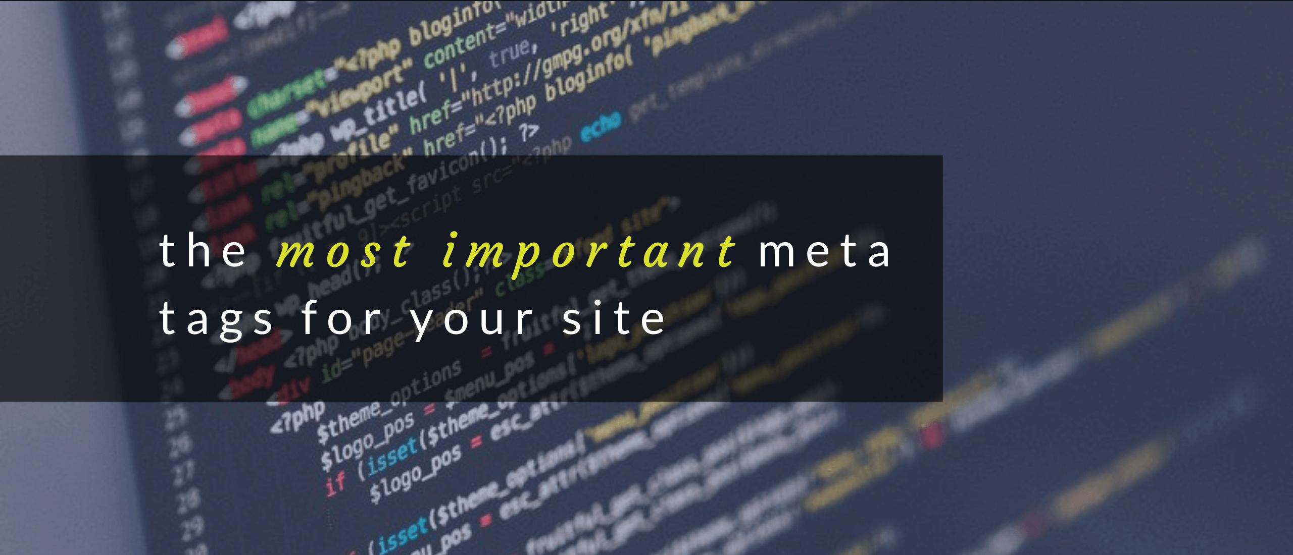 Header image of SEO meta tags article.